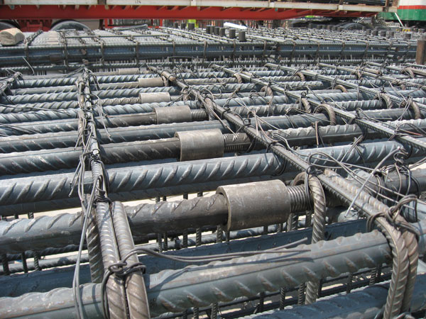 Reinforcing Steel Couplers : Extended rebar coupler parallel threaded couplers
